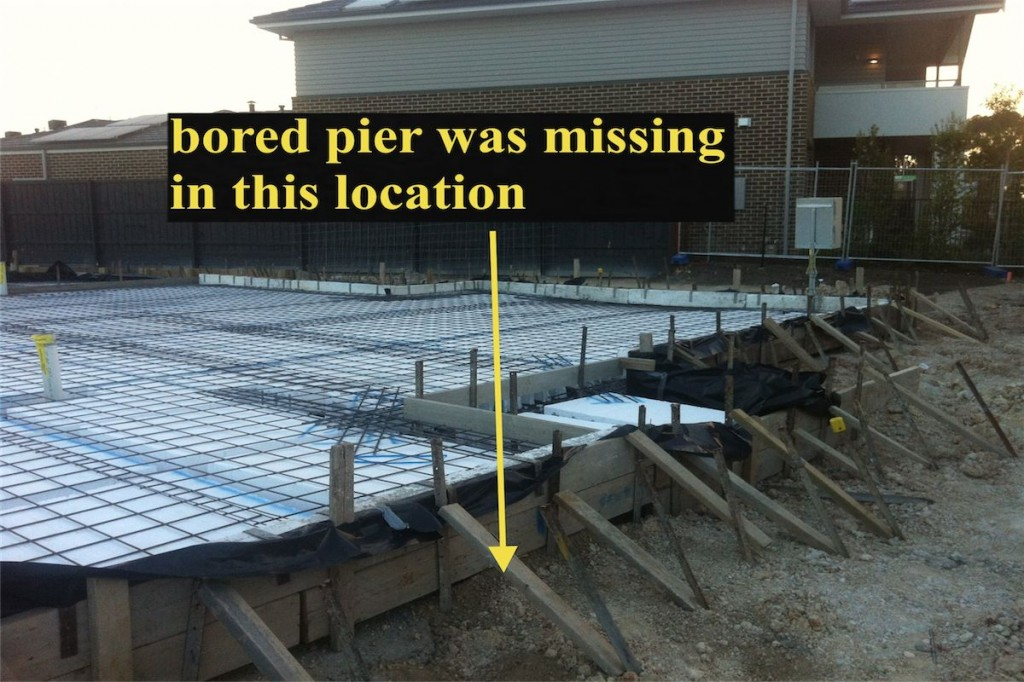Missing Bored Pier Found By Building Expert Building Expert